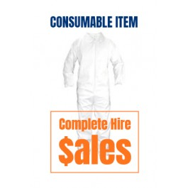 SAFETY - COVERALL (DISPOSABLE WHITE)