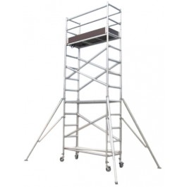SCAFFOLD - TOWER ALUMINIUM - NARROW - 730 X 1800MM - 5.0M PLATFORM HEIGHT