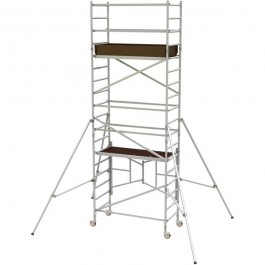 SCAFFOLD - TOWER ALUMINIUM - NARROW - 730 X 2400MM - 4.5M PLATFORM HEIGHT