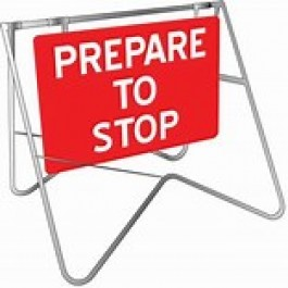 SIGN - PREPARE TO STOP