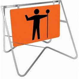 SIGN - WORKMAN (PICTURE) - ORANGE