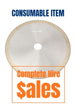 350mm 14 inch Continuous Diamond Blade - for sale Complete Hire Sydney