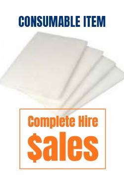 Upright Floor sander Floor strippng pads 300mm x450mm - for sale Complete Hire Sydney