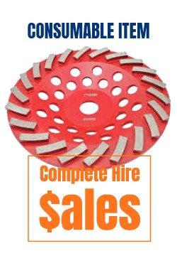 Diamond cup wheel 180mm segmented - for sale Complete Hire Sydney
