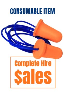 Ear plugs with string - for sale Complete Hire Sydney