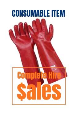 Elbow lenegth pvc gloves - for sale Complete Hire Sydney