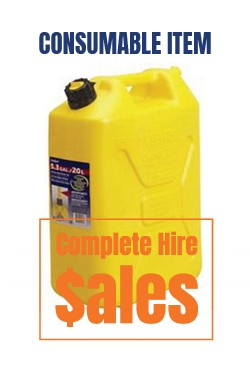 JERRY CAN 20L - DIESEL -  for sale Complete Hire Sydney