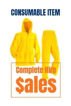 Rain coat -set- for sale Complete Hire Sydney