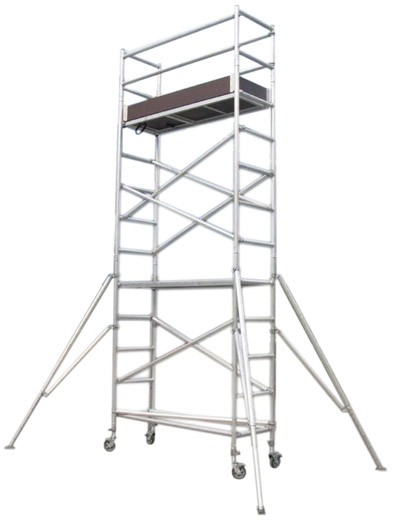 SCAFFOLD - TOWER ALUMINIUM - NARROW - 730 X 1800MM - 6.0M PLATFORM HEIGHT for hire in Sydney from Complete Hire