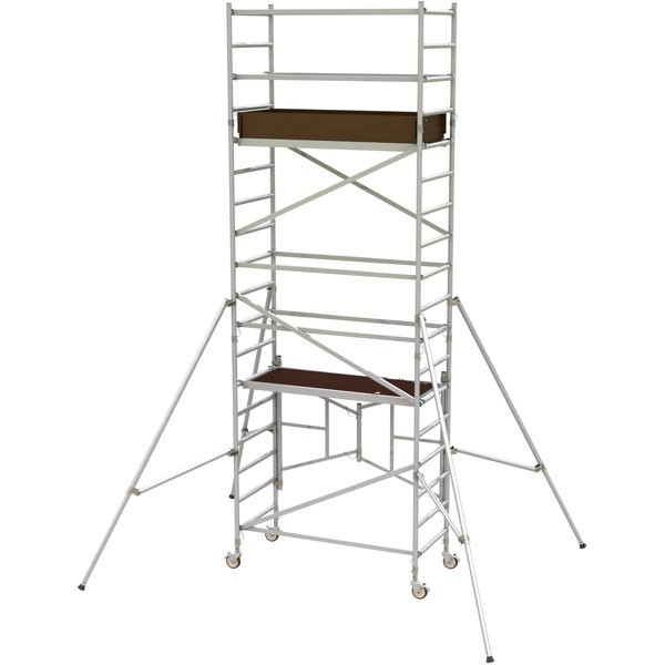 SCAFFOLD - TOWER ALUMINIUM - NARROW - 730 X 2400MM - 5.0M PLATFORM HEIGHT for hire in Sydney from Complete Hire