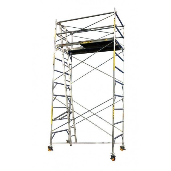 SCAFFOLD - TOWER ALUMINIUM - WIDE - 1310 X 2400MM - 6.0M PLATFORM HEIGHT for hire in Sydney from Complete Hire