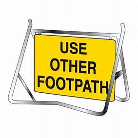 SIGN - PEDESTRIAN USE OTHER FOOTPATH - ON STAND for hire in Sydney from Complete Hire