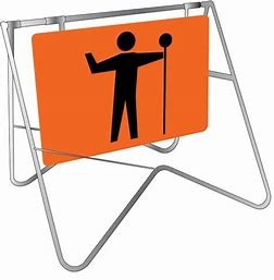 SIGN - WORKMAN (PICTURE) - ORANGE for hire in Sydney from Complete Hire