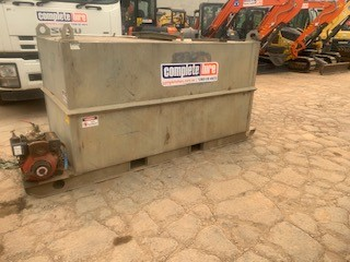 TANK - WATER 2000 LITRE - Skid mounter with diesel pump for hire in Sydney from Complete Hire