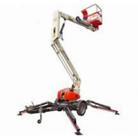 CHERRY PICKER - 12.3M - 34FT - TRAILER MOUNT - PETROL