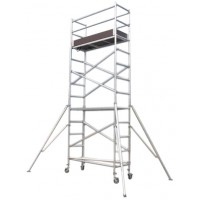 SCAFFOLD - TOWER ALUMINIUM - NARROW - 730 X 1800MM - 2.0M PLATFORM HEIGHT