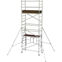 SCAFFOLD - TOWER ALUMINIUM - NARROW - 730 X 2400MM - 5.0M PLATFORM HEIGHT