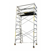 SCAFFOLD - TOWER ALUMINIUM - WIDE - 1310 X 2400MM - 5.0M PLATFORM HEIGHT